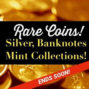 RARE Coins, Gold, Silver, Banknotes, STAMPS, Currency, Watches, Rings, MONEY, Art, Military Items, Antiques, Sports