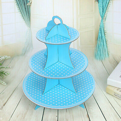 3 Tier Paper Cupcake Stand Holder Tower Wedding Party Dessert Cookie Display ()