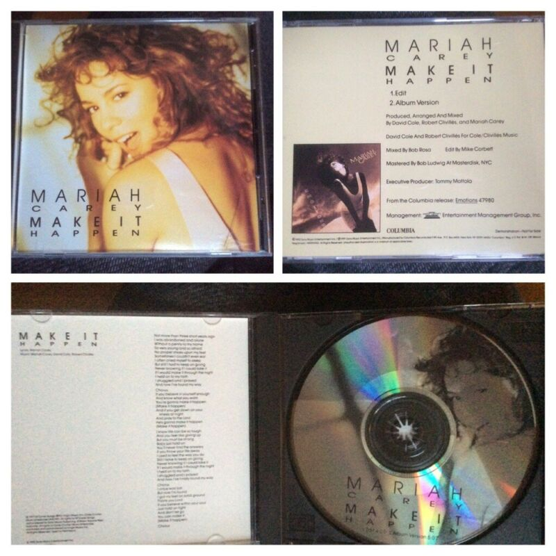 MARIAH CAREY - Make It Happen - USA 2trk Promo PICTURE DISC Cd, Extremely Rare.