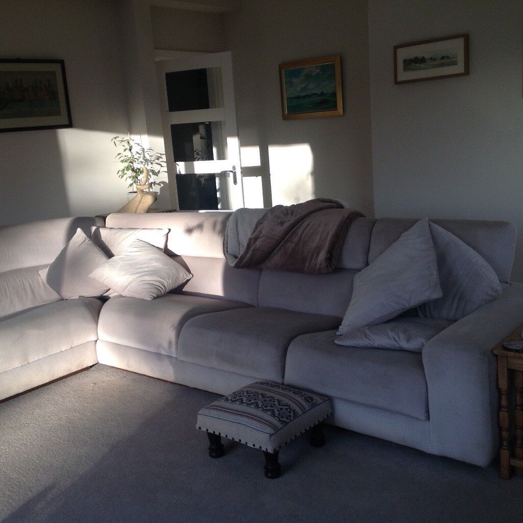 large beige corner sofa 3m x 3m and two seater 2m in longniddry east lothian gumtree. Black Bedroom Furniture Sets. Home Design Ideas