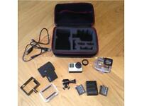 GoPro Hero 4 Black 4K action cam with extras