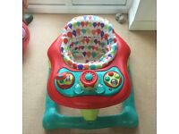 Mamas and Papas Baby Walker in excellent condition, working lights and sounds, height adjustable