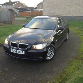 55 BMW 320i black new shape long mot services history good condition £2250