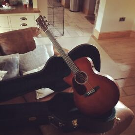 Beautiful shaded left handed guitar