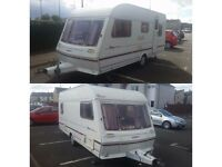 abbey piper executive 5 berth touring caravan with full size awning great condition no damp or leeks