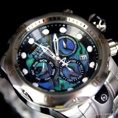 Invicta Reserve Venom Abalone Chrono 52mm Swiss Mvt Stainless Steel Watch New