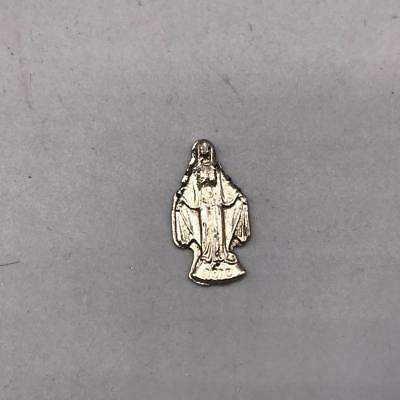 Vintage Mary Embossed Religious Prayer Medallion made in Italy