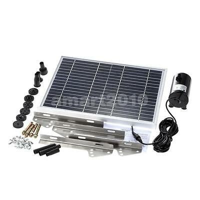 10W 17V Solar Powered Panel Water Pump Fountain Kit for Pool Garden Pond