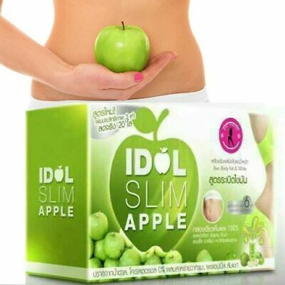 IDOL Slim Apple Drink Fruit Lose Weight Diet Block Burn Fat Radiant Skin 1 box