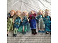 Disney Frozen Elsa and Anna large soft dolls x 6