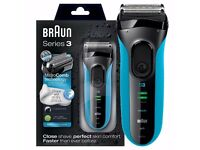 Braun Series 3 ProSkin 3080s Wet and Dry Electric Shaver for Men Blue RRP £139