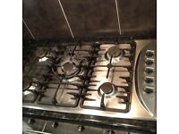 Cooker hood and hob