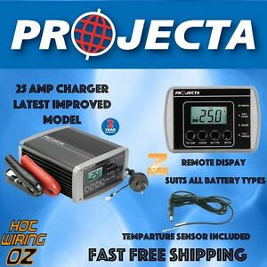 PROJECTA IC2500 BATTERY CHARGER 12 VOLT 25 AMP 7 STAGE SWITCHMODE  GEL, AGM, CAL