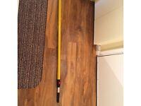 Paint roller extension pole