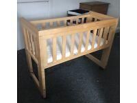 Troll wooden bedside crib / cot