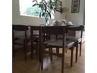 Vintage 50-60's dining's table and 4 chairs
