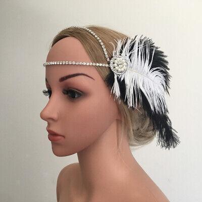 d mit Feder 20er Jahre Stil Haarband Great Gatsby (1920 Haar)