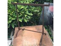 Victorian hand made iron trestles