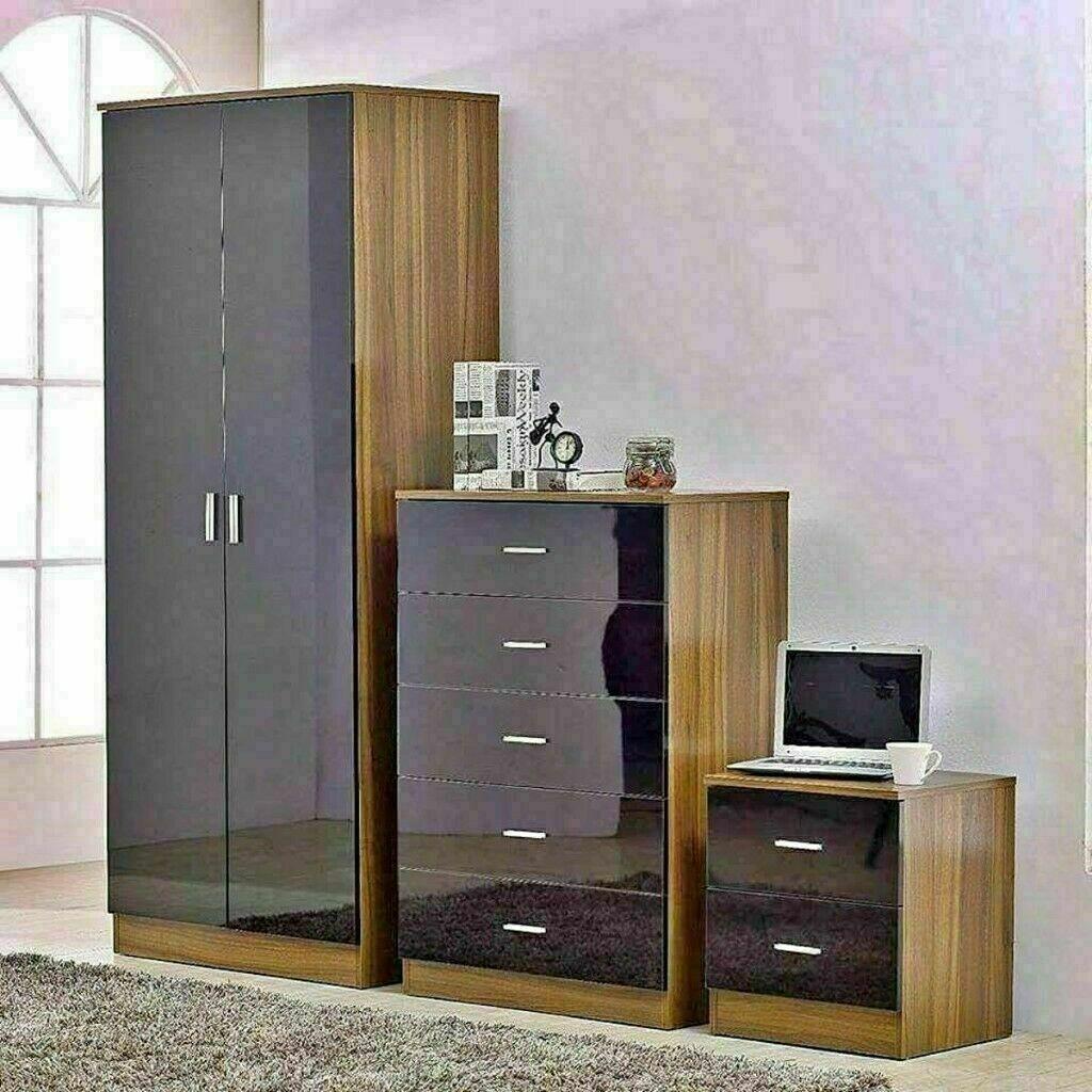 EXCLUSIVE OFFER ALINA 2 DOOR WARDROBE & BEDROOM SET- GOOD