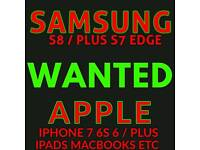 WANTED - IPHONE 7 PLUS SAMSUNG S8 S7 EDGE 16GB 32GB 64GB 128GB 256GB UNLOCKED VODAFONE EE O2 TESCO