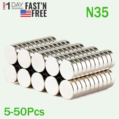 Lot 12mm X 3mm Neodymium Disc Strong Rare Earth Small Fridge Magnets N35 Us