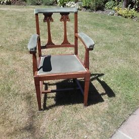 'Bishop's Chair' originally from Victorian Church in Liverpool interesting item
