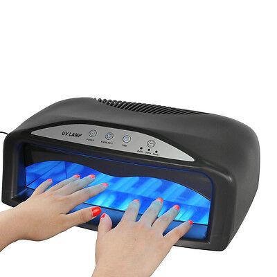 Pro Nail Polish Dryer Lamp 54W UV LED Gel Acrylic Curing Light Spa Kit+ 6 tubes