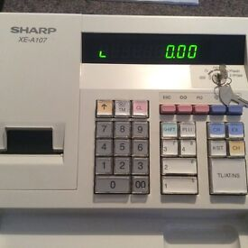 Sharp XE-A107 electronic cash register in near perfect condition with manual