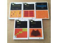 "Bulk load of ""Basics Design"" books graphic design student must have bargain! 5 books"