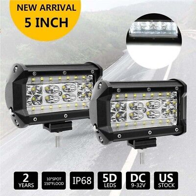 Led Pods Driving Light Bar Cube Ip68 Off Road Offroadtown Parts For Trucks Jeep 3 Light Montana Bar