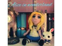 Alice in wonderland doll handmade