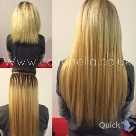 Russian Indian Brazilian remy virgin mobile micro nano hair extensions from £150