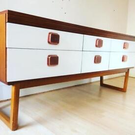Scandinavian sideboard retro vintage with 6 drawers