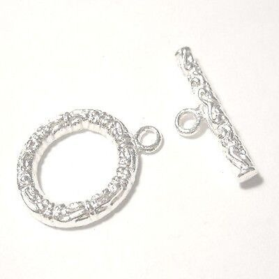 10 Sets Toggle Clasps 17x20mm - K6623 / Silver
