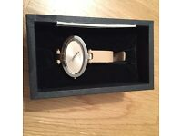 Ladies Watch still in box, cream and silver still in gift box, unwanted gift