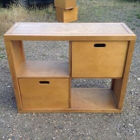 M & S storage units with side table