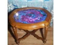 Universe style antique vintage oak resin table