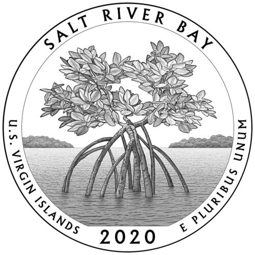2020 P - D - S  BU SALT RIVER BAY  Nat. Park AMERICA THE BEAUTIFUL   PRE-SALE !!