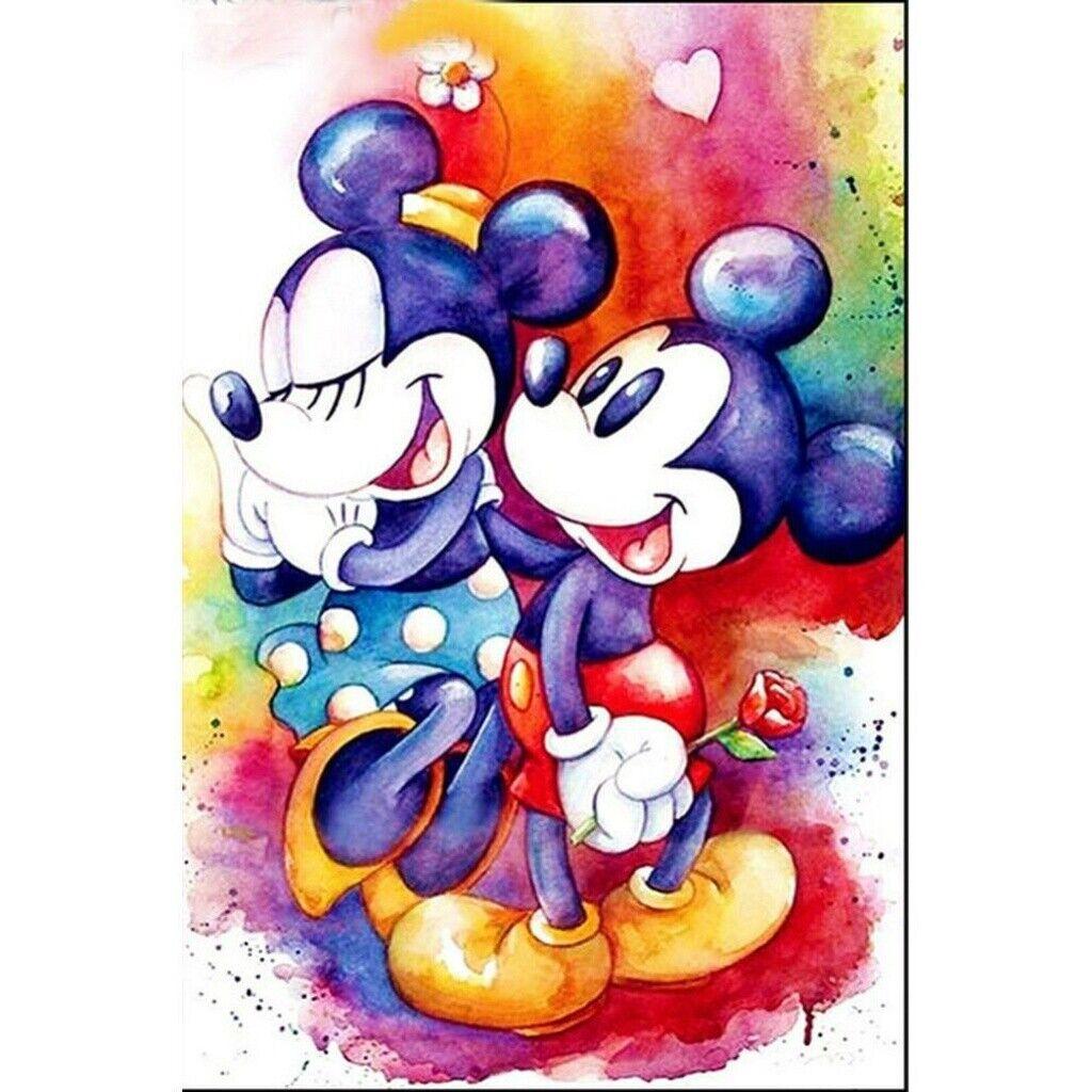 5D Diamond Painting Full Drill Embroidery Cross Stitch Kits Mickey Minnie Murals