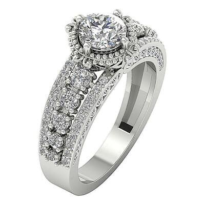 Solitaire Anniversary Ring I1 G 2.25 Ct Round Journey Diamond White Gold 10.30MM Diamond Journey Anniversary Ring