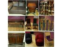 HUGE JOB LOT FURNITURE - Chairs, Stools, Table, Chest of Drawers