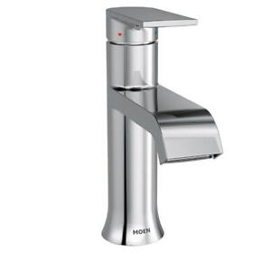 New Moen 6702 Genta One-Handle High-Arc Bathroom Faucet with Drain Assembly, Chrome