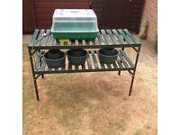 Greenhouse racking and heated propagator