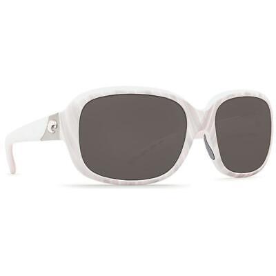 de840dc1b4b68 New Costa del Mar Gannet Polarized Sunglasses Seashell White Gray 580P Women