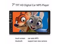 "7"" inch LCD Touch screen car radio player Bluetooth hands free"