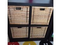 ikea kallax storage 2x2 with wooden baskets