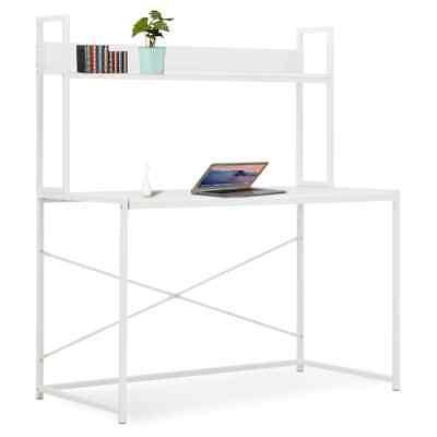 Vidaxl Computer Desk White 47.2x23.6x54.3 Home Office Workstation Table