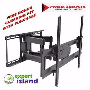 "Prime Mounts PMD110CB-X Full Motion Dual Arm TV Wall Mount, fits 37"" to 60"" up to 110 lbs"