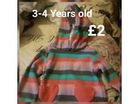 3-4 Year old stripped hoody