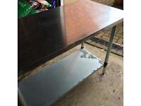 Aluminium butchers/craft bench